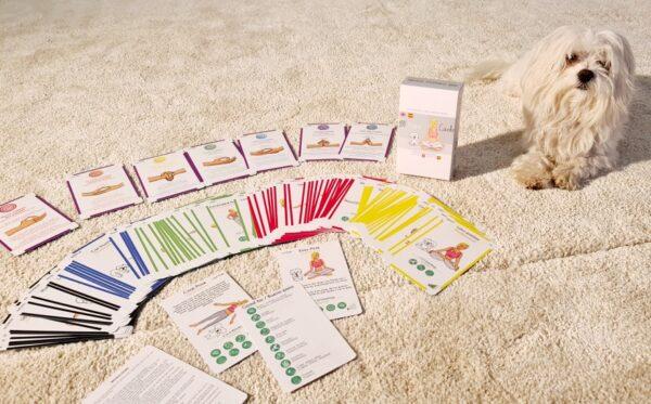 training cards, cartas de yoga