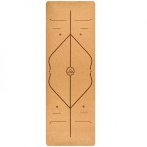 Yoga CORK MAT with Alignment and carry straps